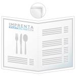 impresión cartas restaurantes dípticos A3